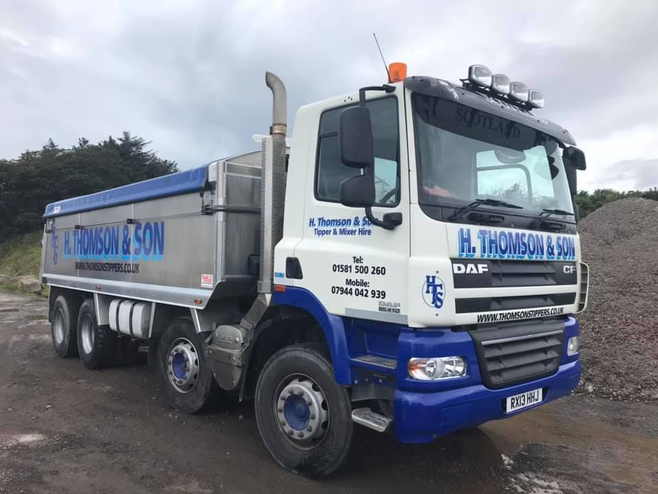 A Thomson's Tipper with a double tipper load