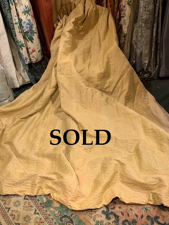 Various Large Gold Damask Style Pinch Pleat Curtains
