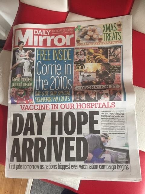 Our Gloves & Aprons are on the front page of the Mirror!