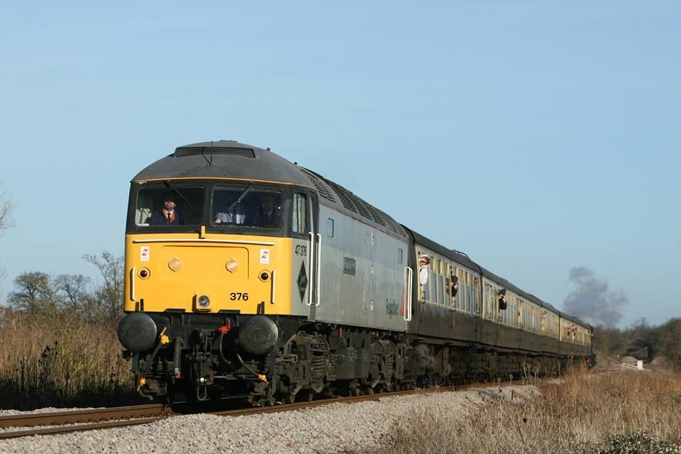 47376 approaching Stanway Viaduct with the 1200 Broadway  Cheltenham RC - 29/12/13  (M Measures)