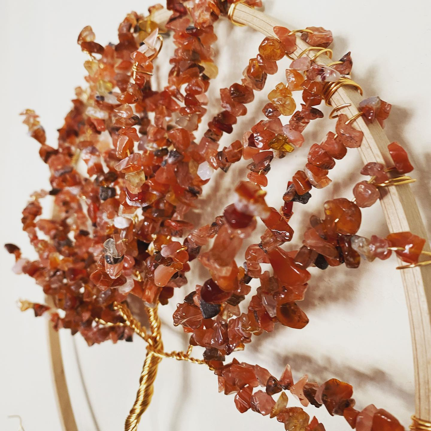 Gilt and Carnelian tree of life