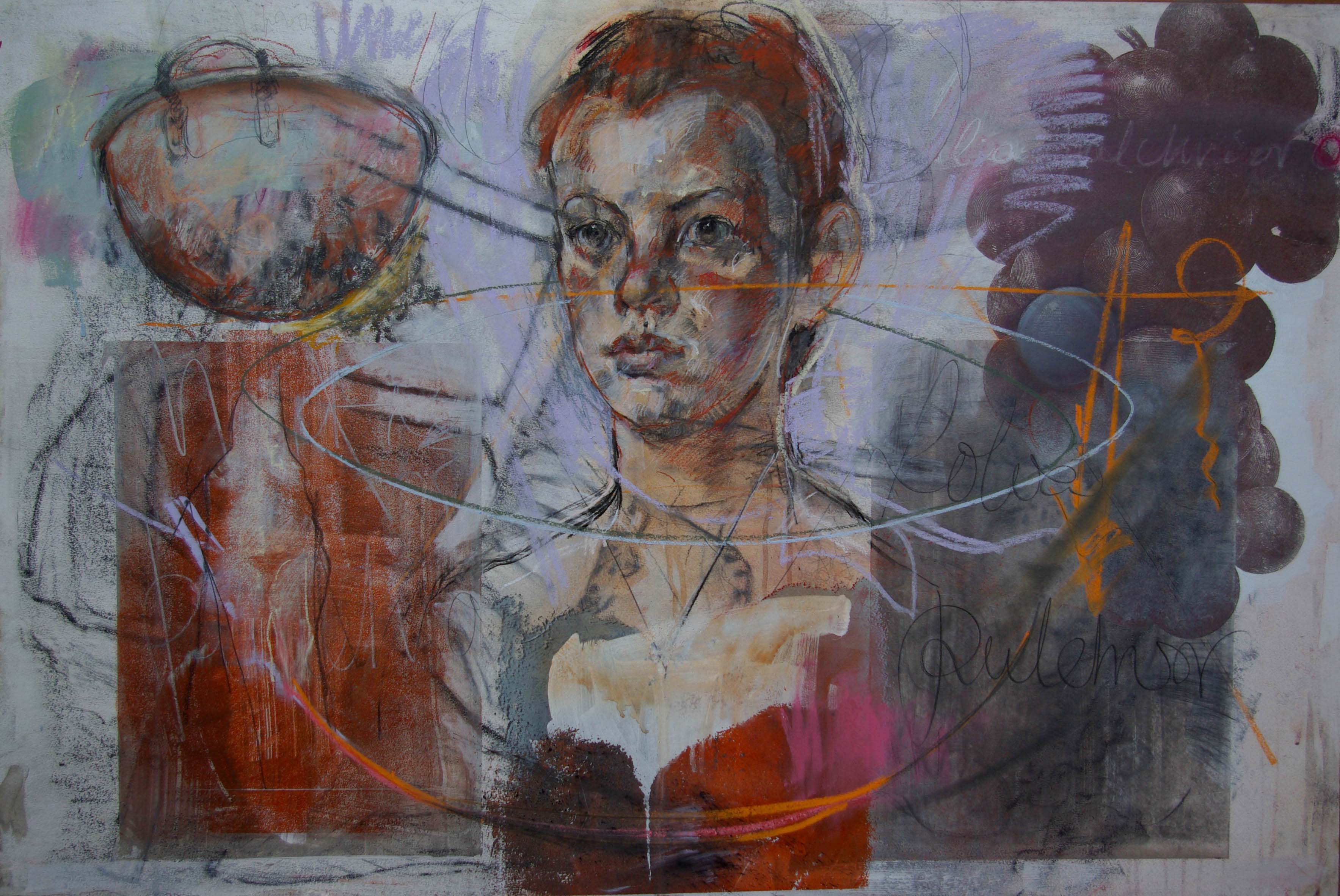 Drawing, mixed media 82 x 118 cms Framed