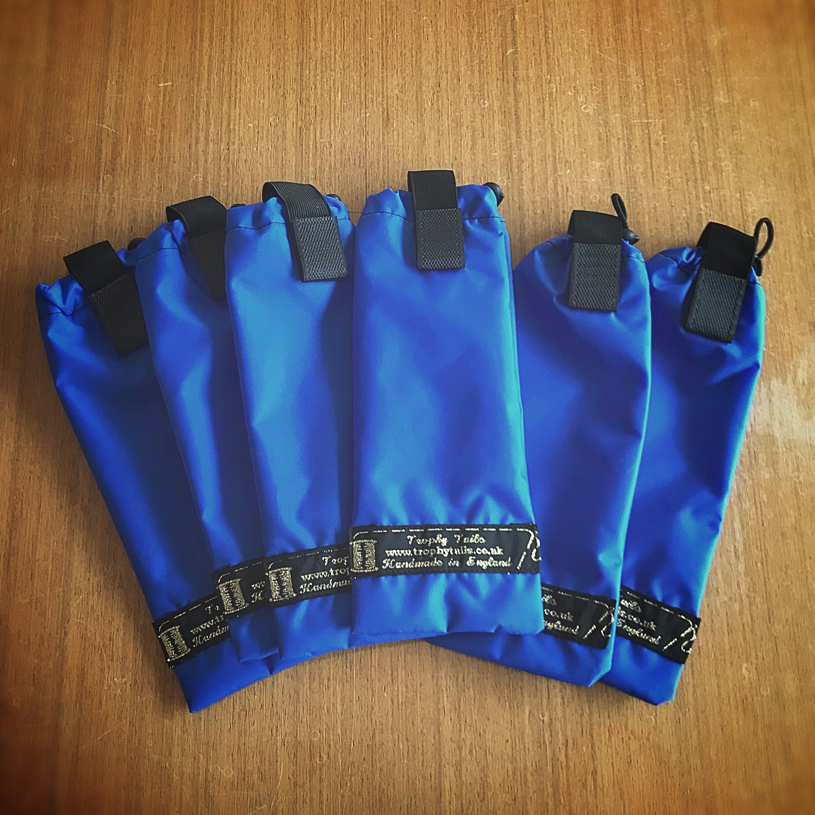 Heavy Duty mane bags set of 6 with toggles - royal blue