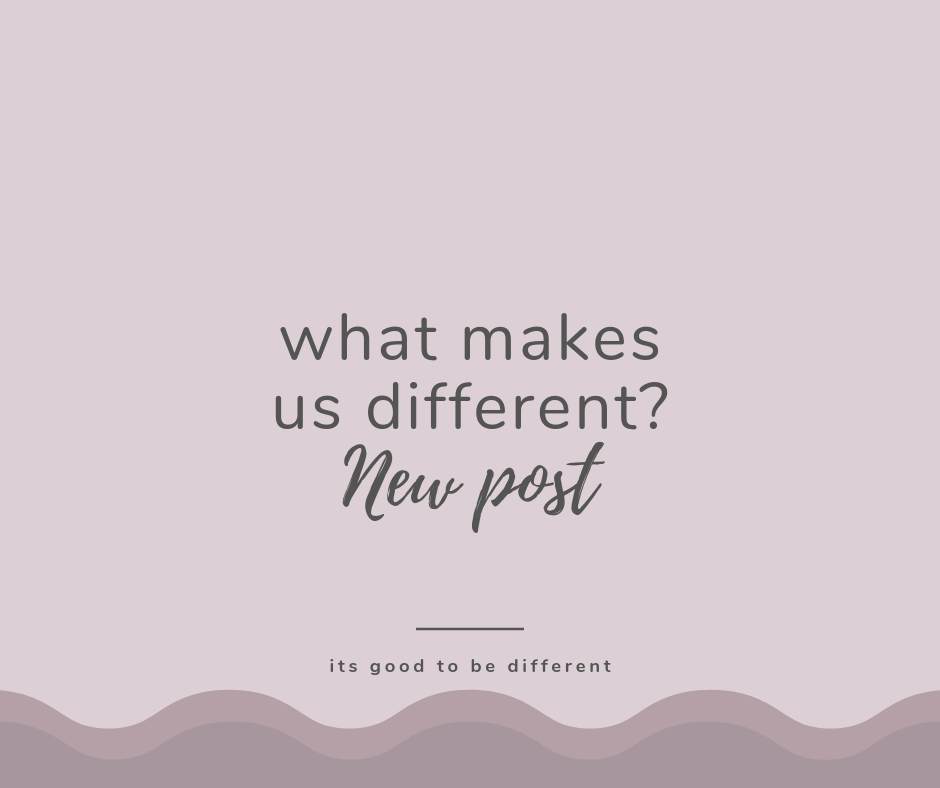 What makes us different? Well I'm very proud to tell you why!