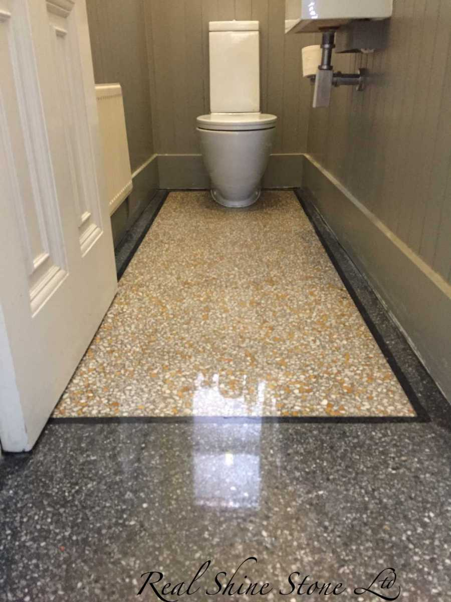 Terrazzo polishing - picture after