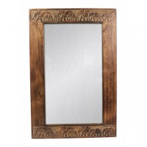 Wooden Elephant mirror