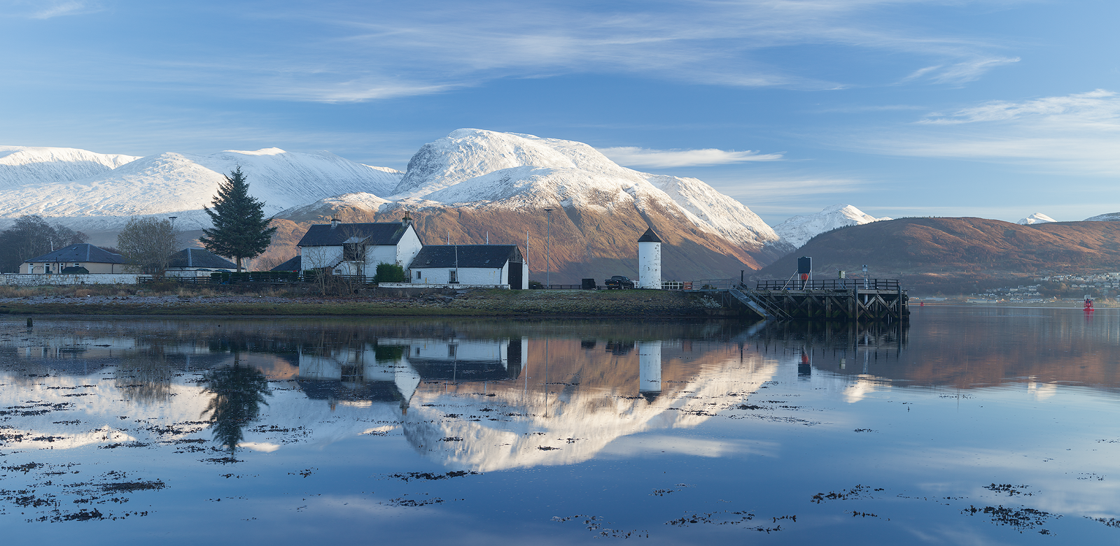 Ben Nevis from Corpach Lighthouse