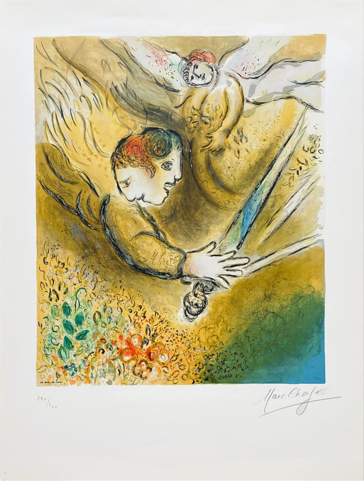 after Marc Chagall - L' ange du jugement