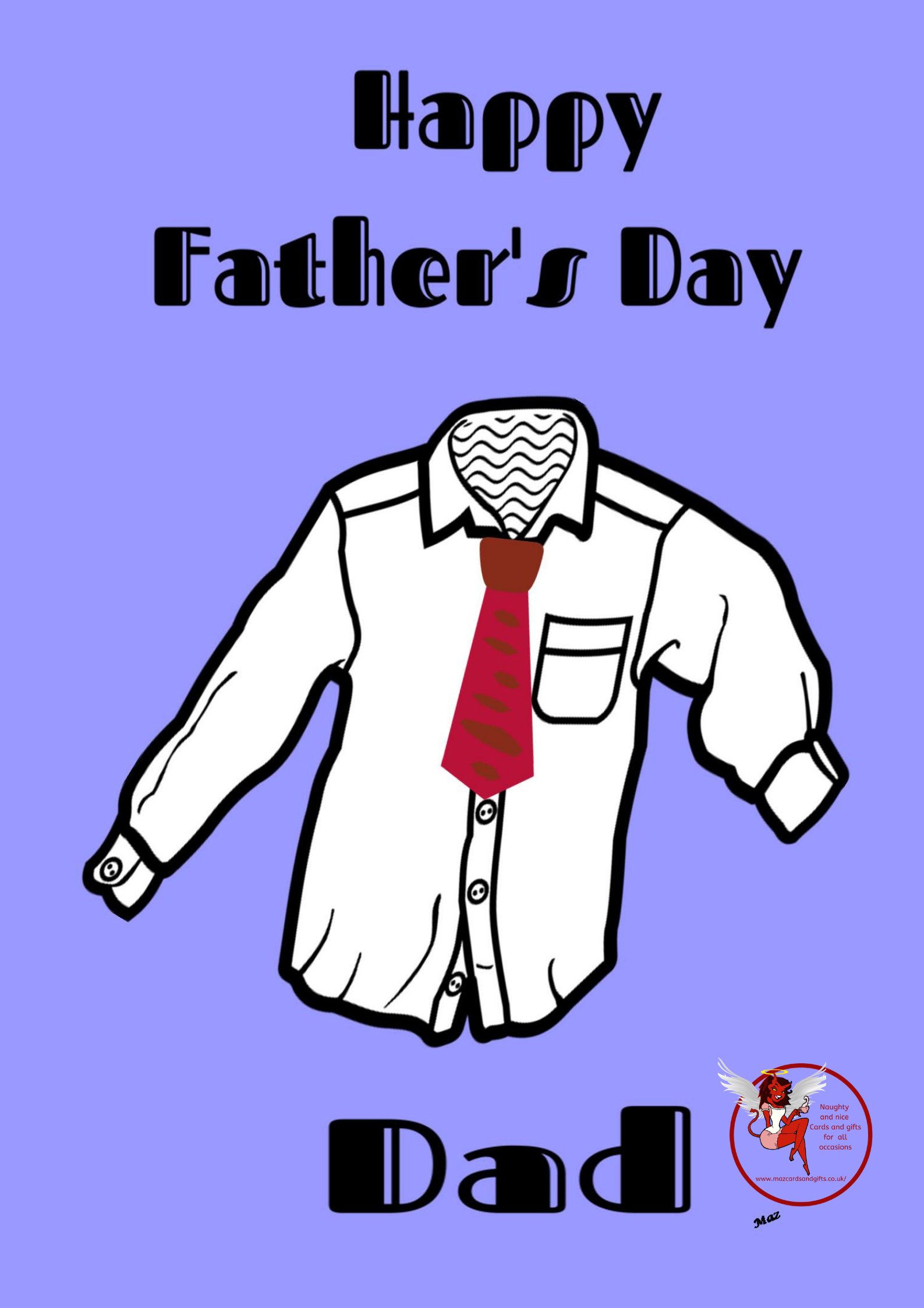 Father's day -  Shirt and Tie Card - Order No 012