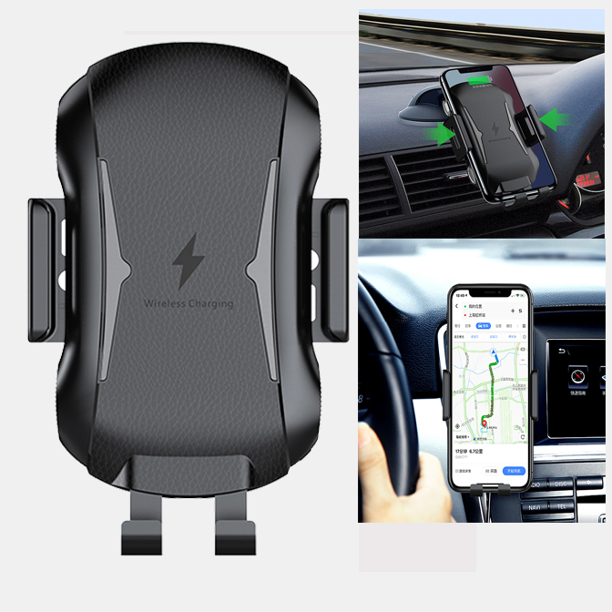 Wireless Car Charger Mount Auto Clamping Car