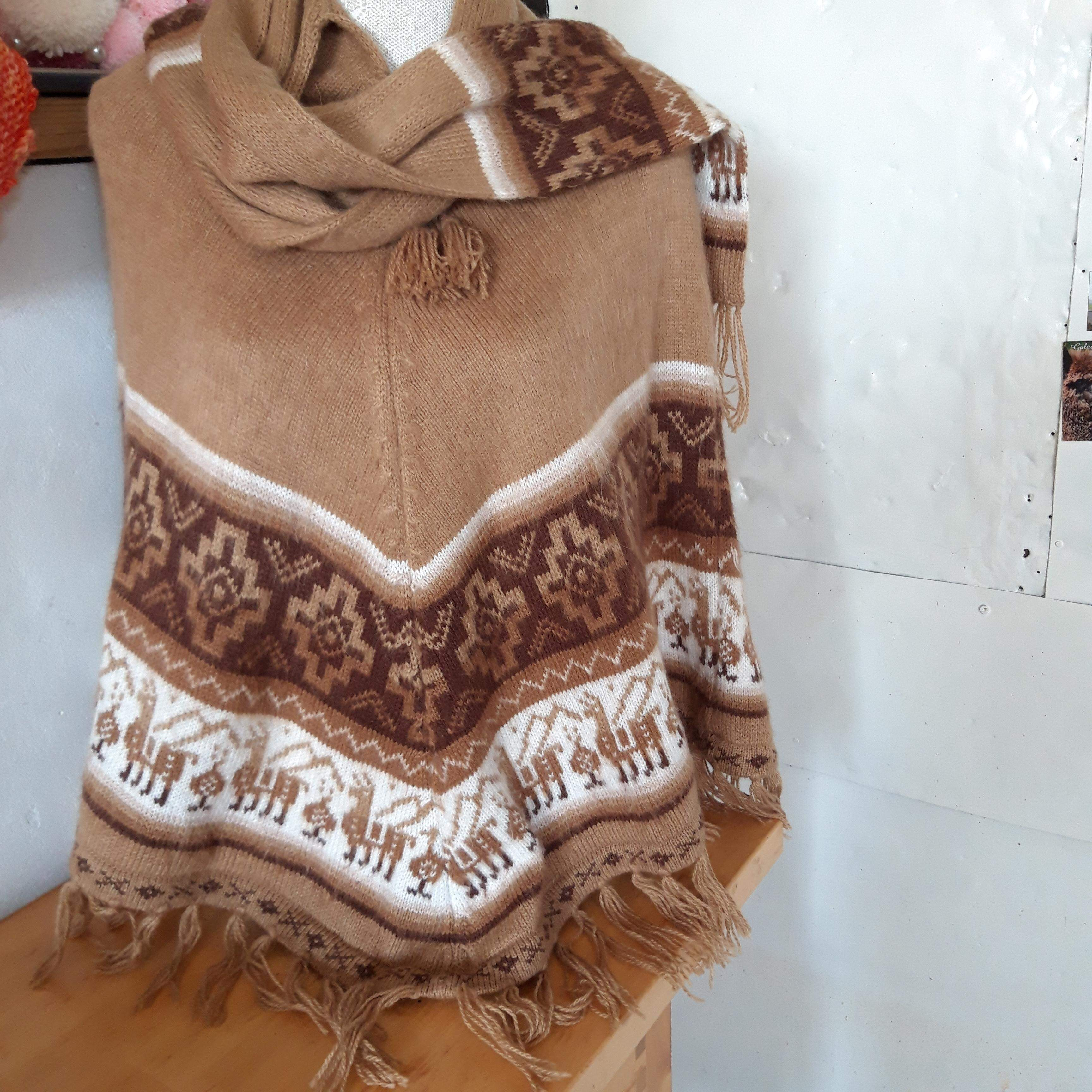 Alpaca Cape with scarf