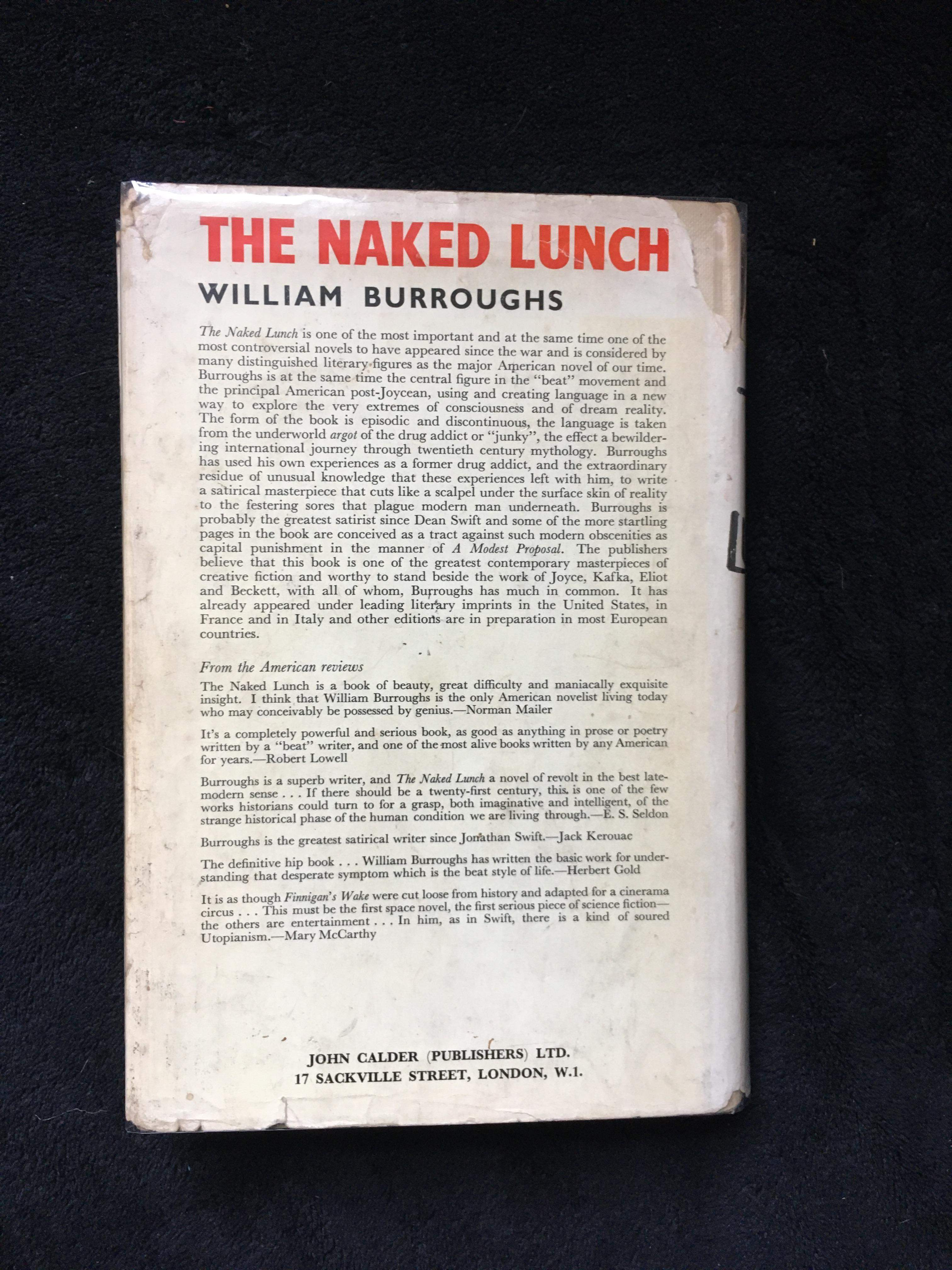 Naked Lunch   William S. Burroughs   First Edition