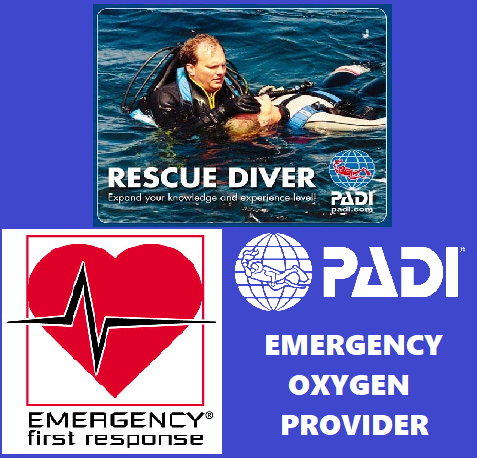 Rescue Diver, EFR and Emergency Oxygen Provider Combined