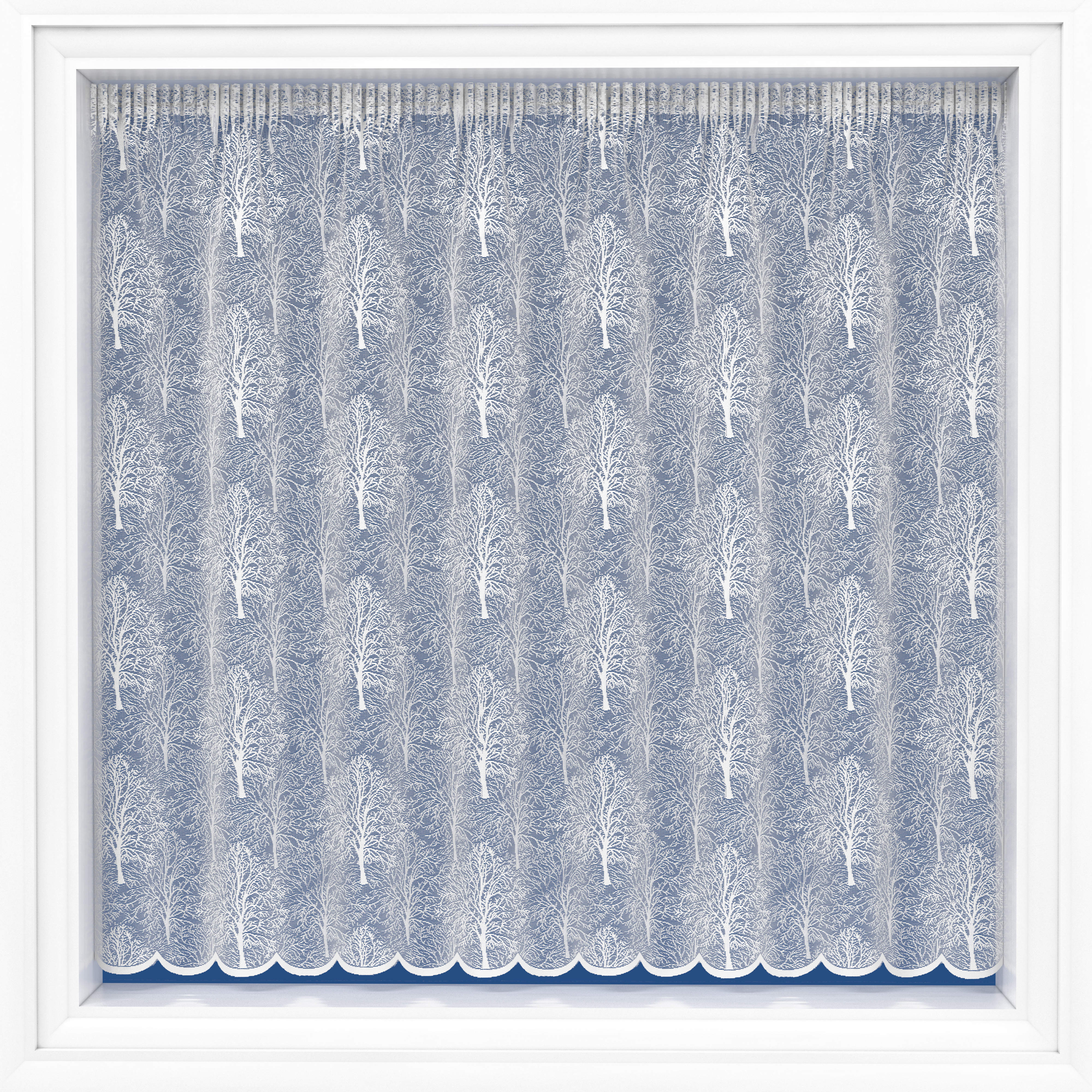 "BIRCH NET CURTAIN - 160cm (63"") length"