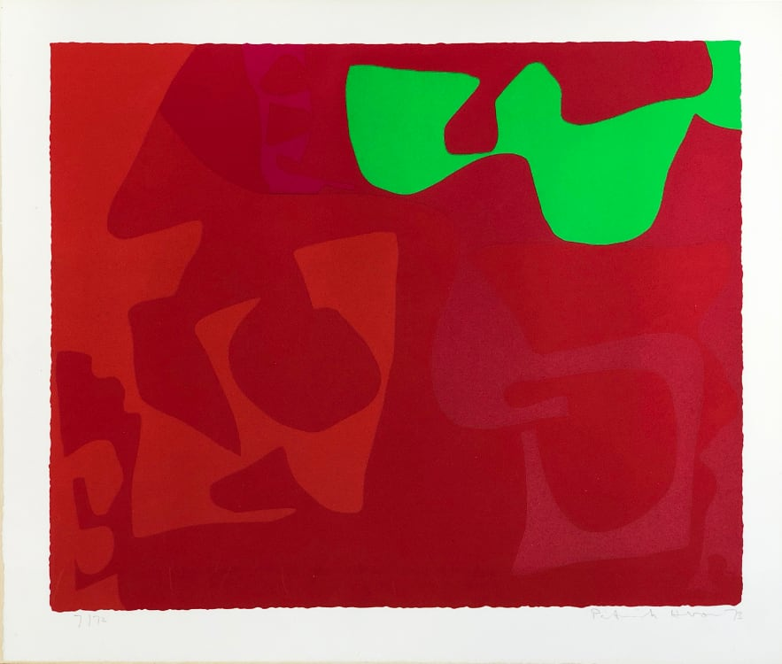 Patrick Heron - Small Red January 1973: 2