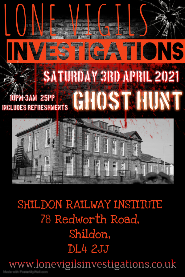 Shildon Railway Institute Saturday 3rd April 2021