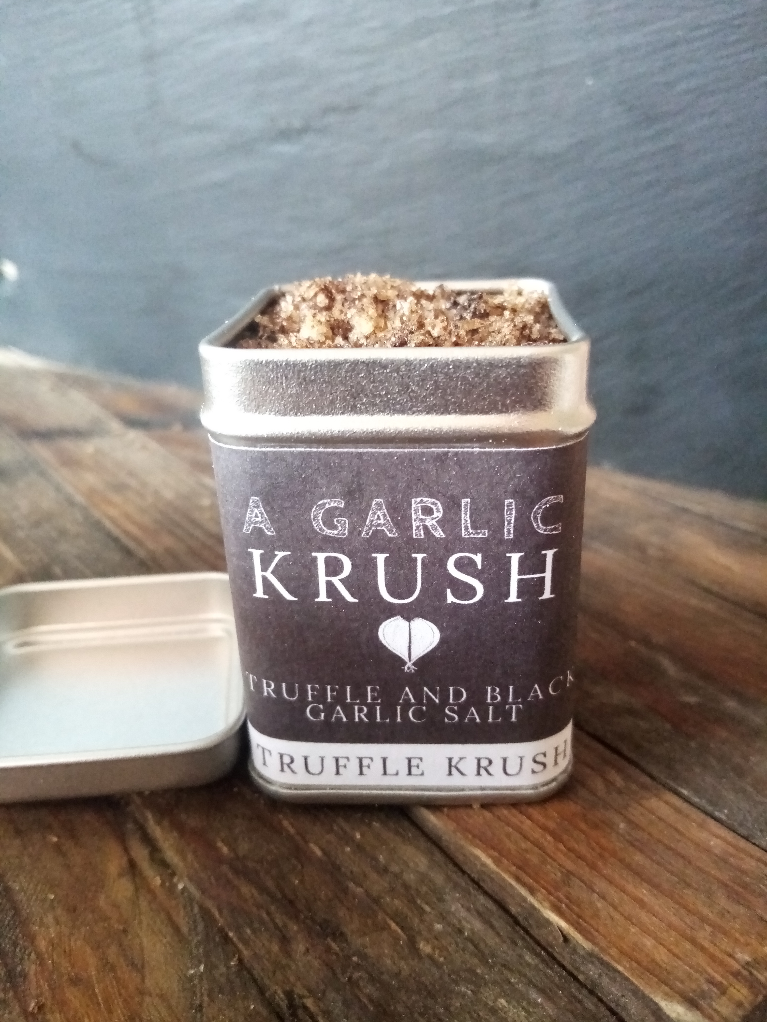 Truffle & Black Garlic Sea Salt. Truffle Krush