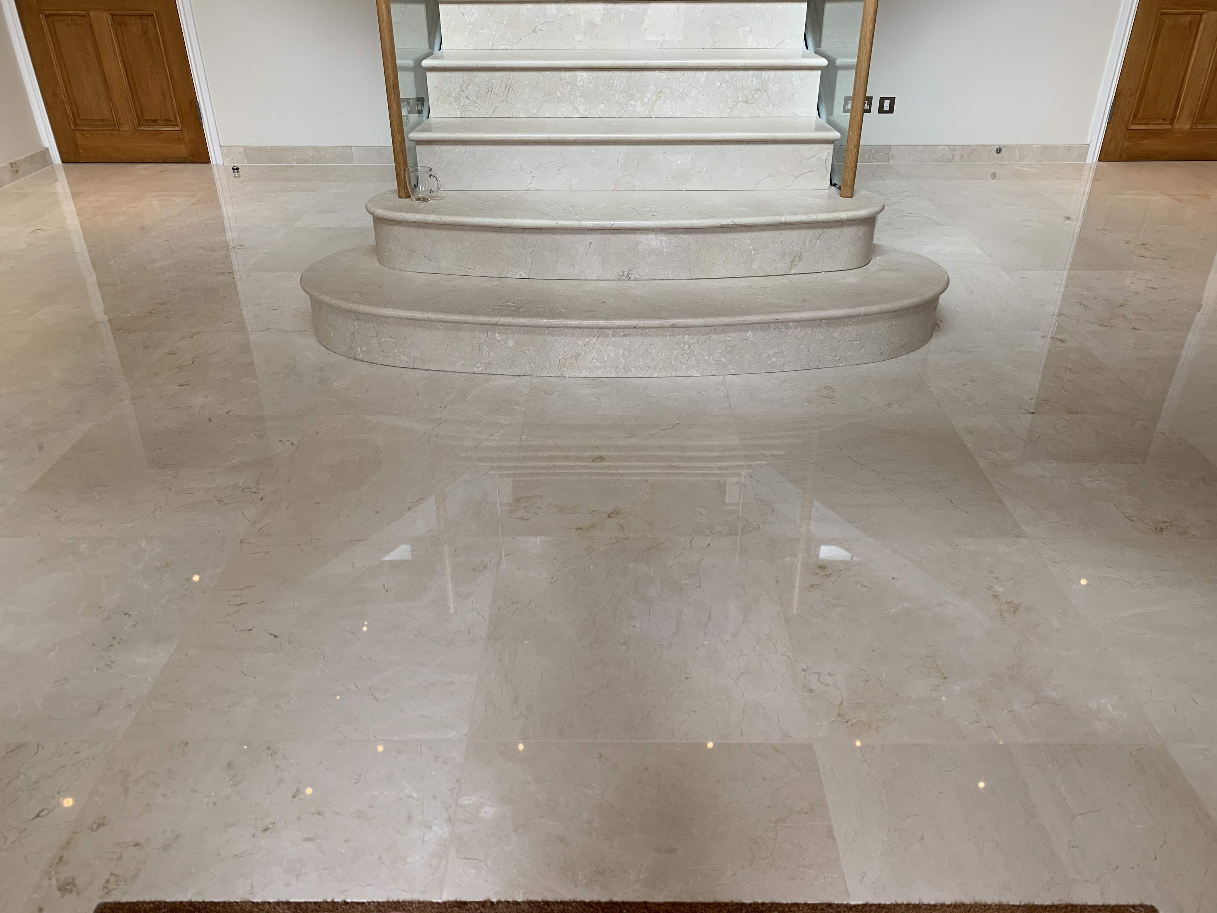 marble floor & staircase restoration