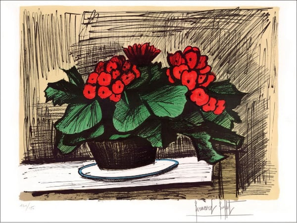 Enjoyable Bernard Buffet Pot De Begonias 1981 Download Free Architecture Designs Lectubocepmadebymaigaardcom