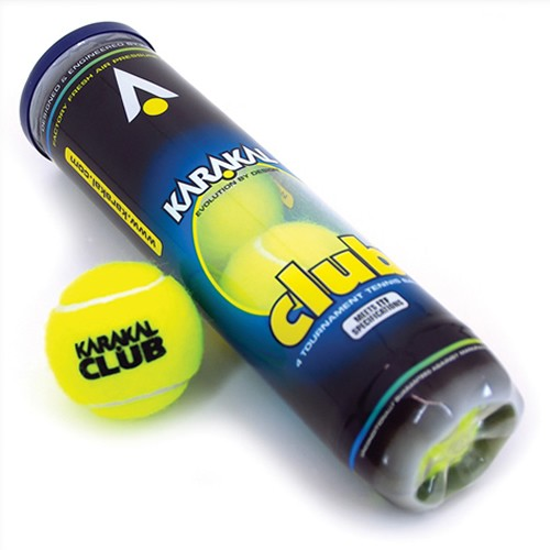 KARAKAL Club Tennis balls tube Of 4