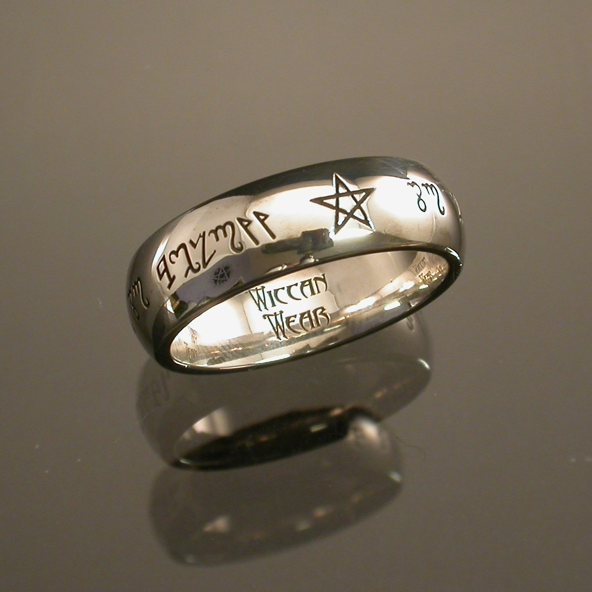 "Theban Script Ring ""as above"""