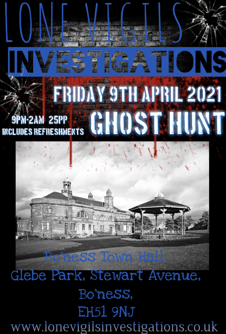 Bo'ness Town Hall Friday 9th April 2021