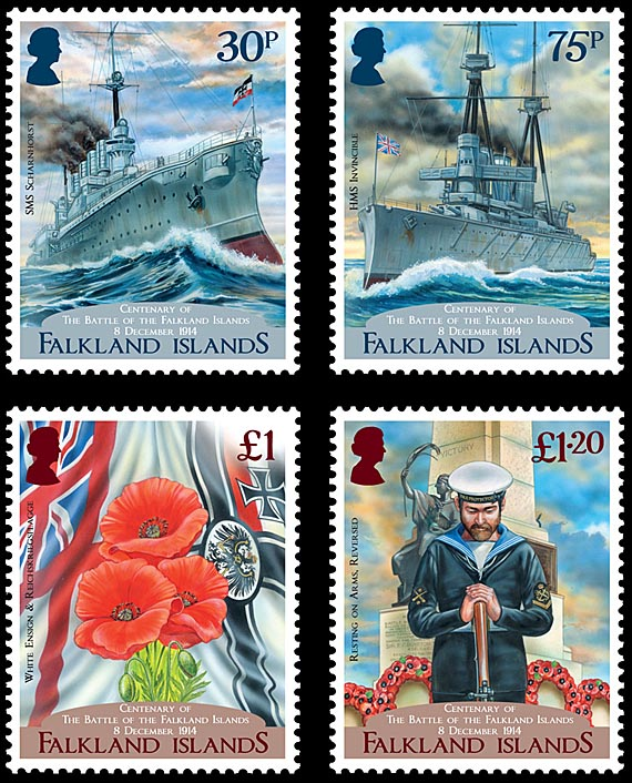 Centenary of the Battle of the Falkland Islands Setjpg