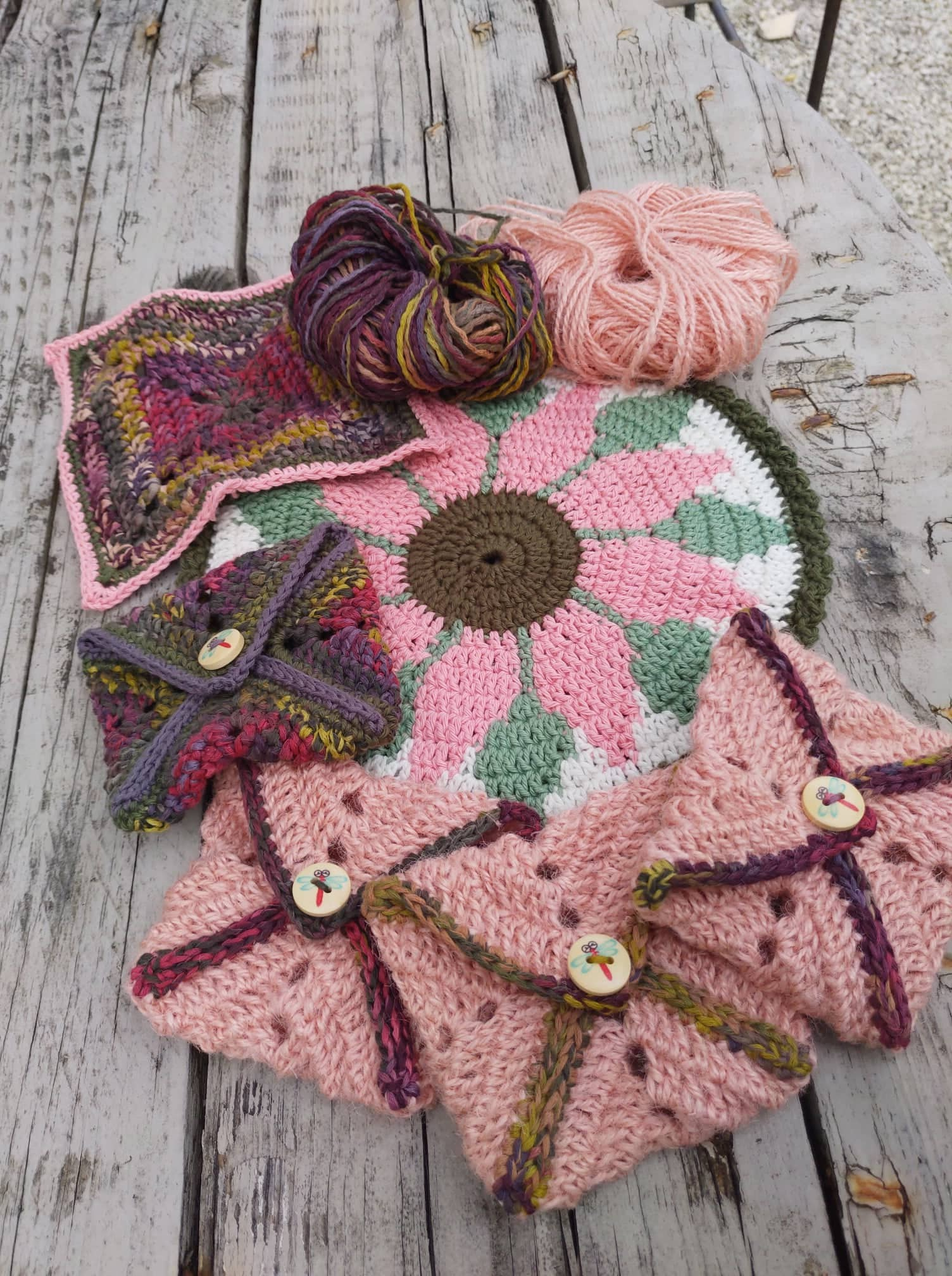 More knitting and crochet projects from the June retreat