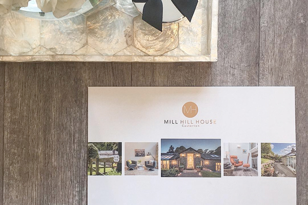 Mill Hill House Bespoke Brochure Design on the Market with VMove Consultants.