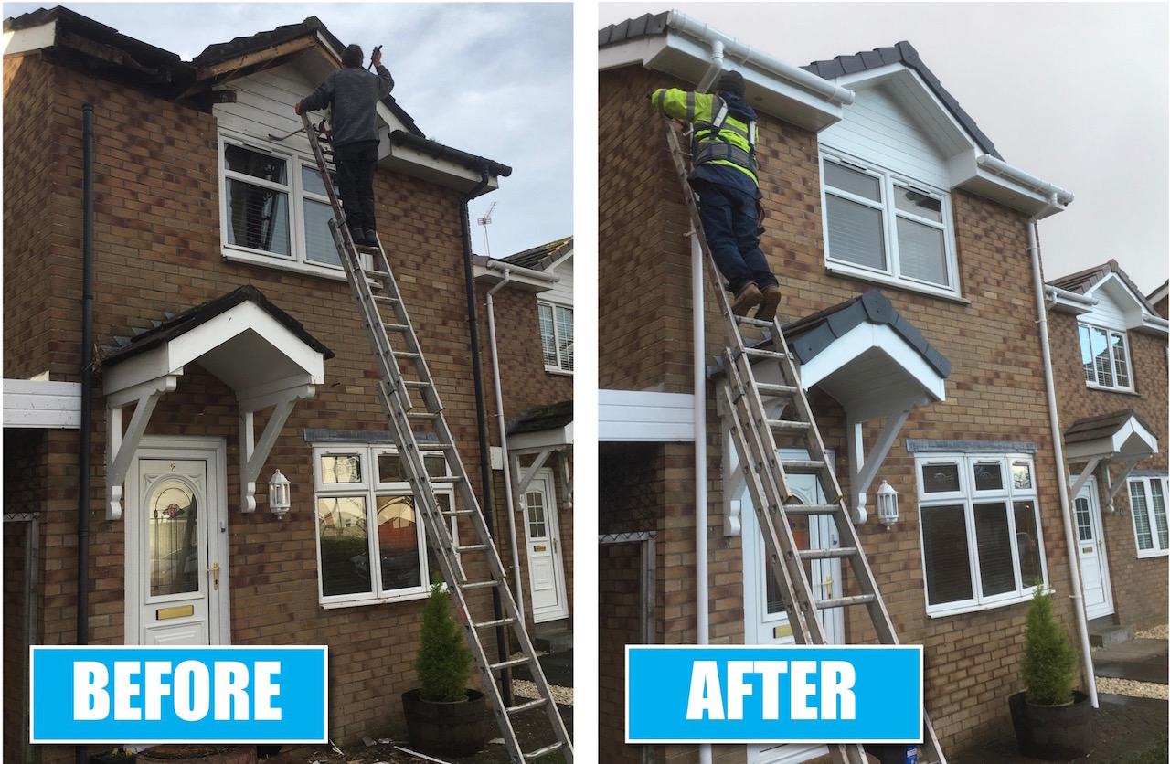 Gutters and fascias by DC Roofcare Irvine Ayrshire