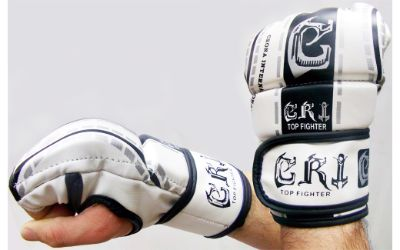 MMA UFC FIGHTING GLOVES WHITE /GOLD SIZE MEDIUM