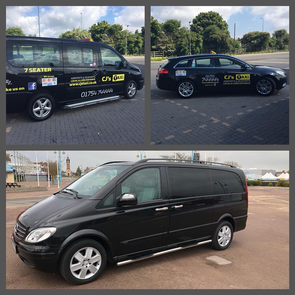 cj's taxi skegness available vehicles for airport transfers
