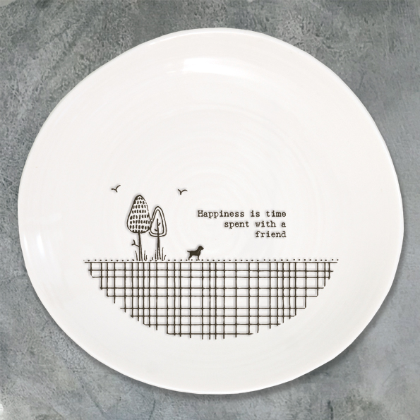 Wobbly Plate - Happiness is Time Spent with a Friend