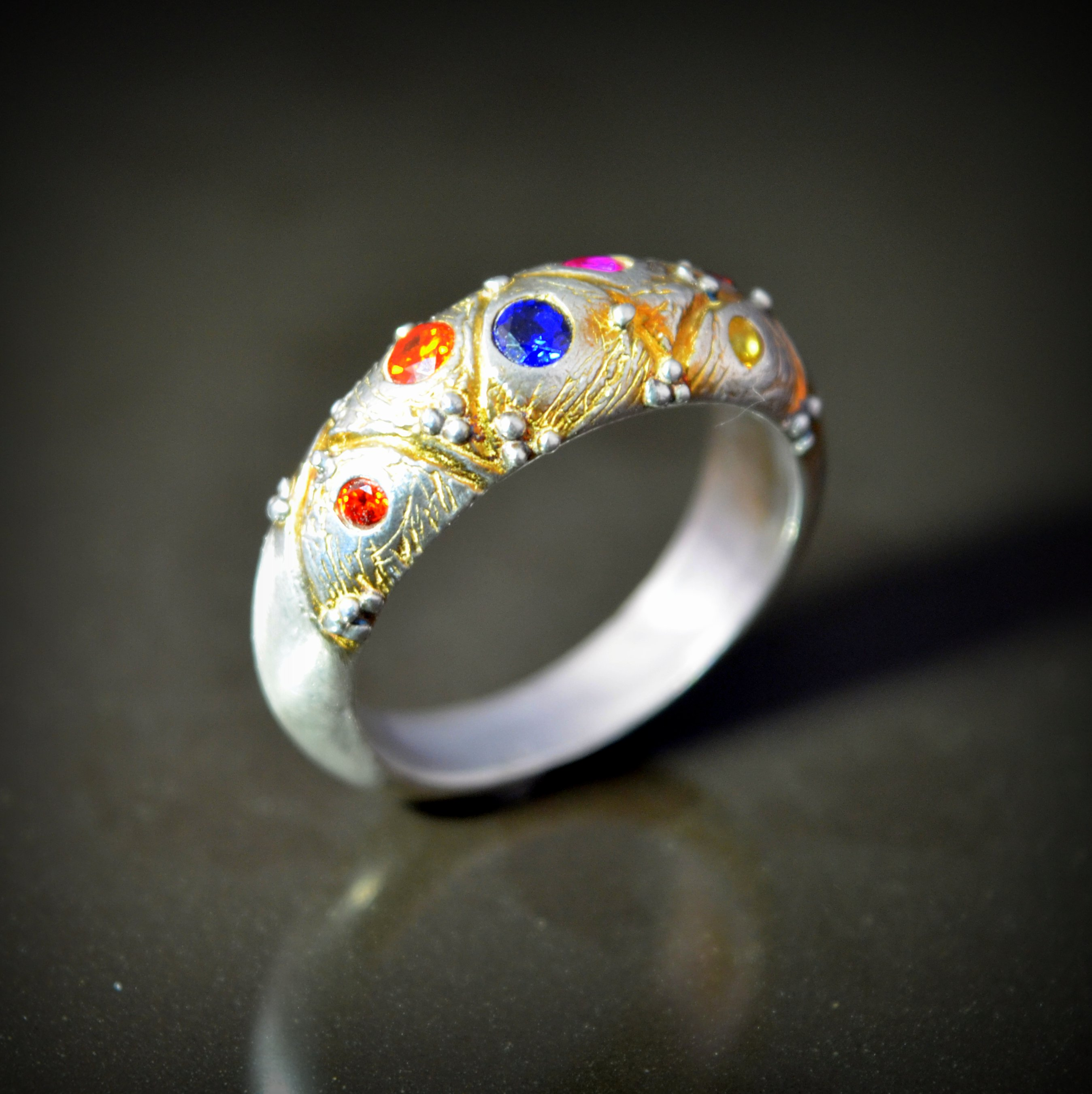Harlequin Ring by Tracey Spurgin of Craftworx Jewellery Workshops