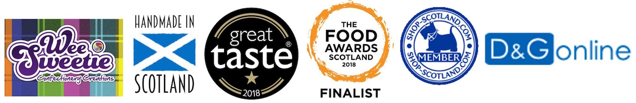 The Wee Sweetie Company is a member of various associations including Handmade in Scotland, Shop-Scotland.com and has won a Great Taste award in 2016