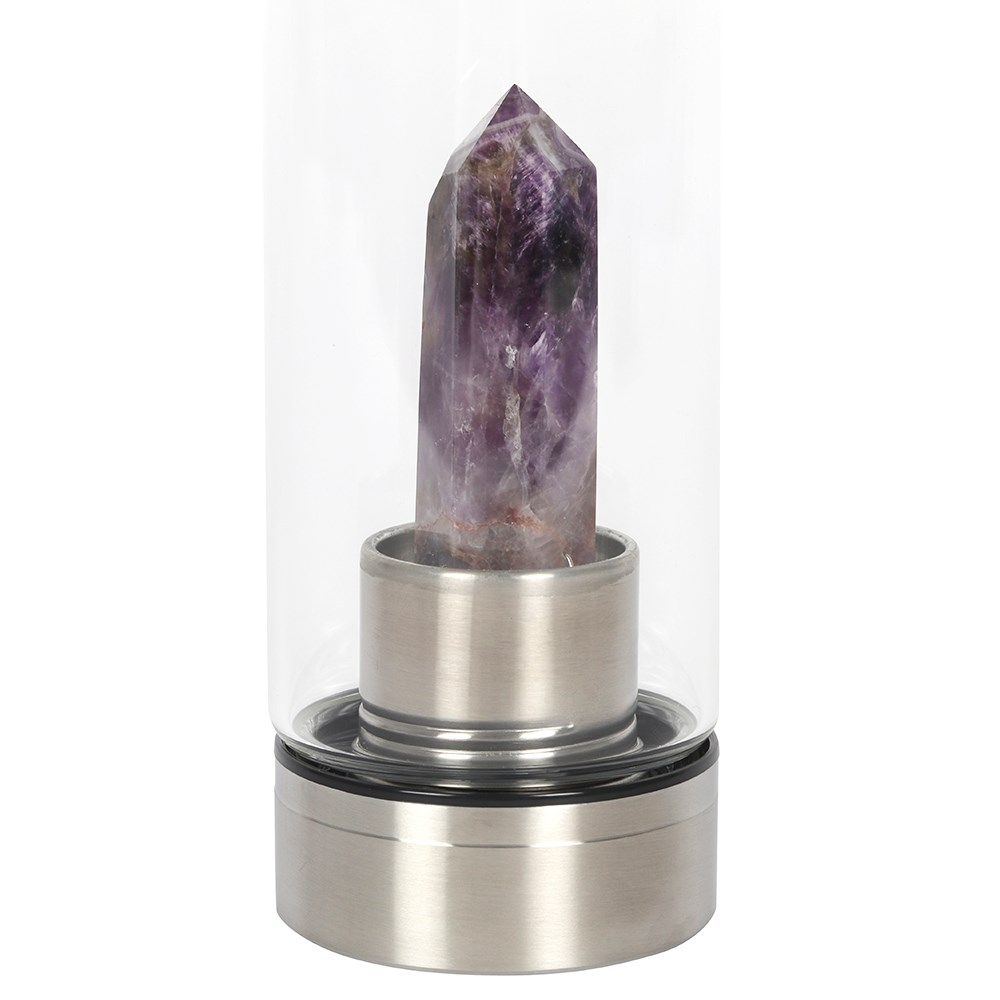 AMETHYST (CALMING) GLASS WATER BOTTLE