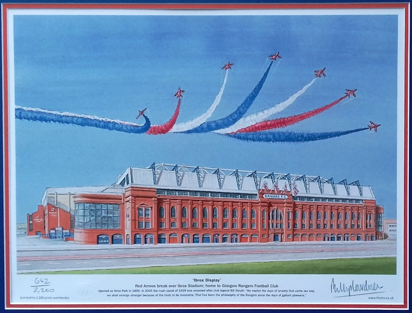'Ibrox Display' Rangers FC fine art print - unframed