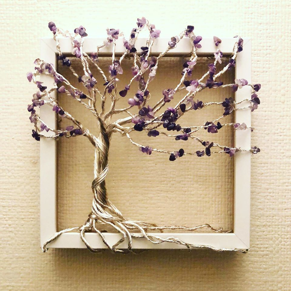 Amethyst and Silver tree of life