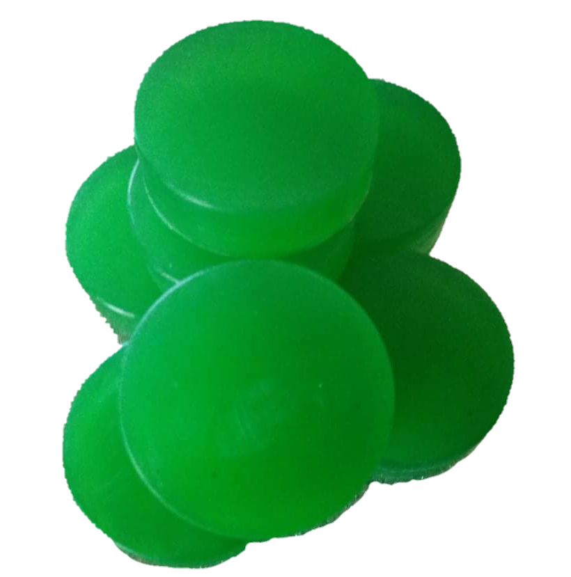 green glycerine Handwash Bar round in shape