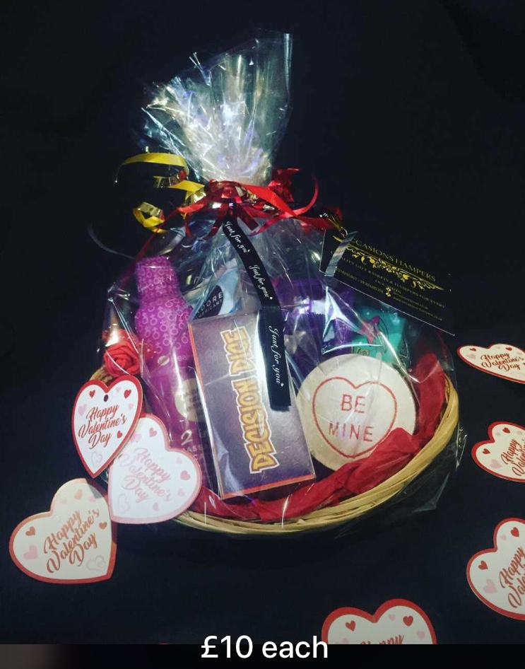 Valentines Lovers Gift Baskets