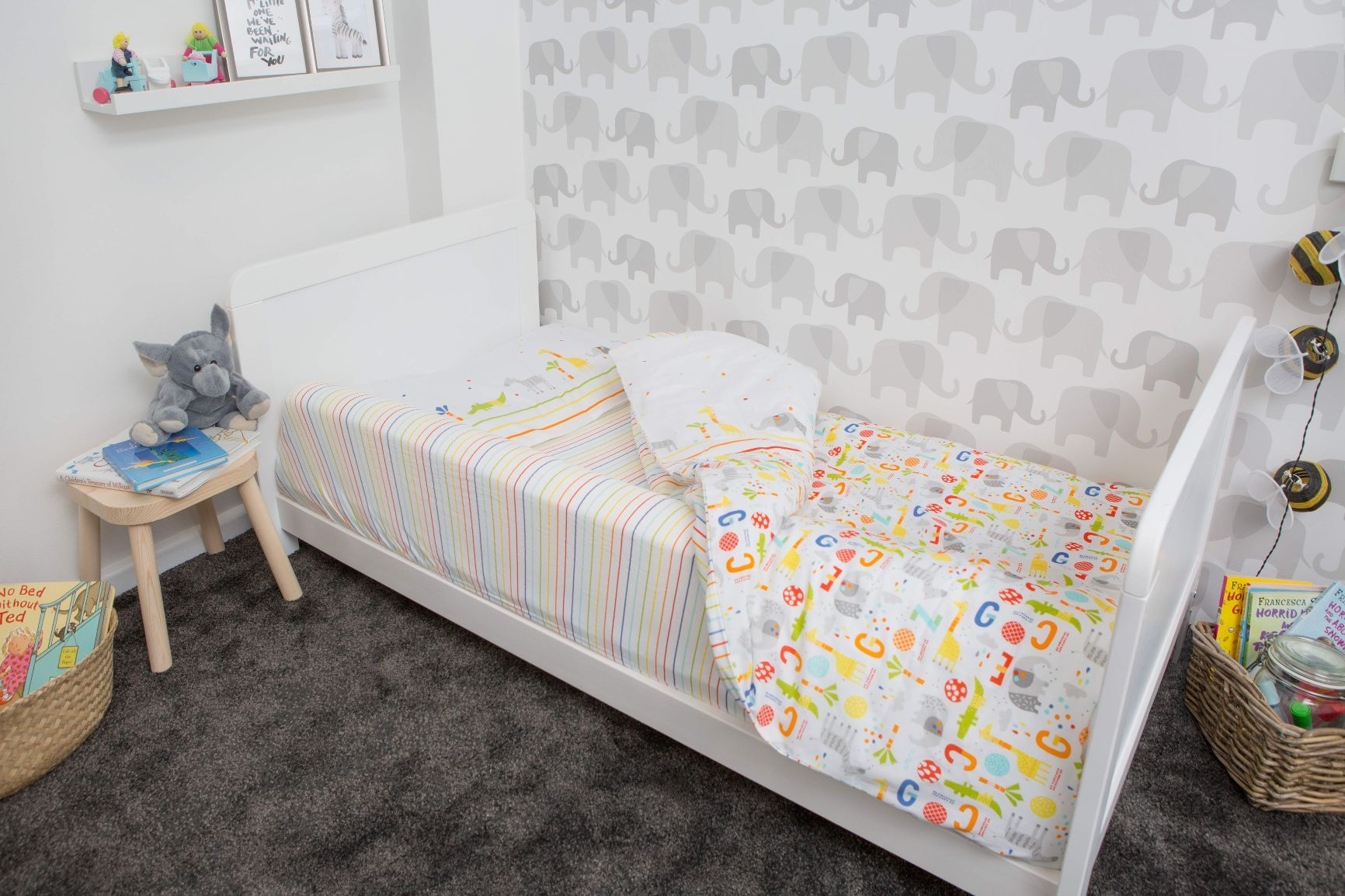 foam bed bumper for use with cot beds