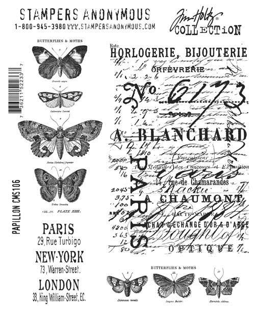Stamper Anonymous - Papillon Cling Stamp