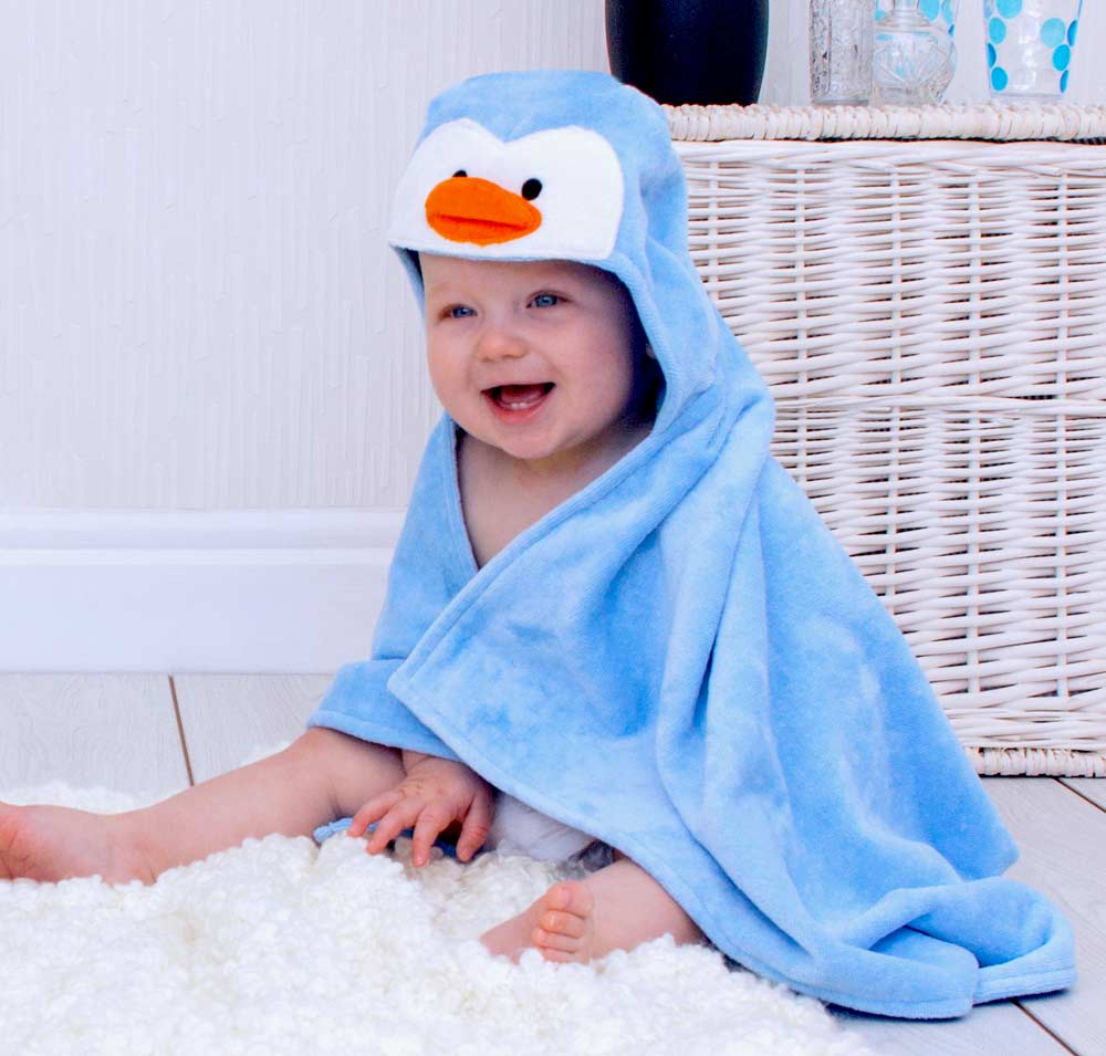 Percy Penguin Baby Towel
