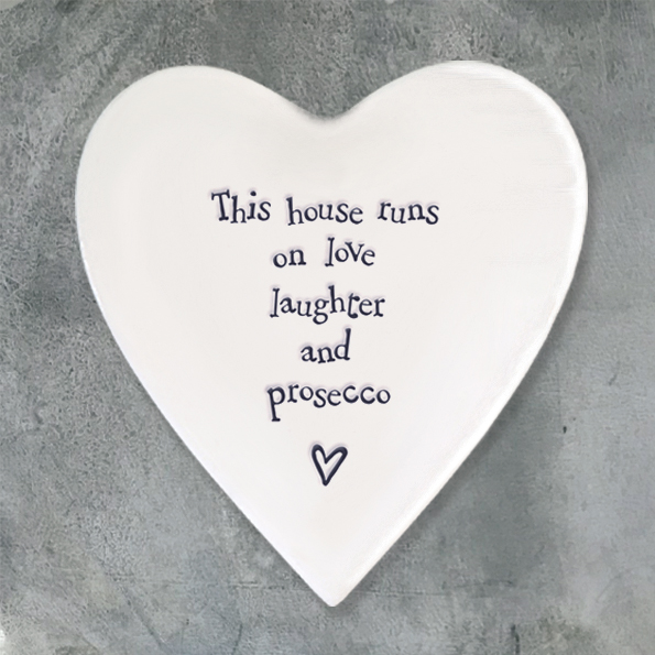 Heart Coaster - Love & Prosecco