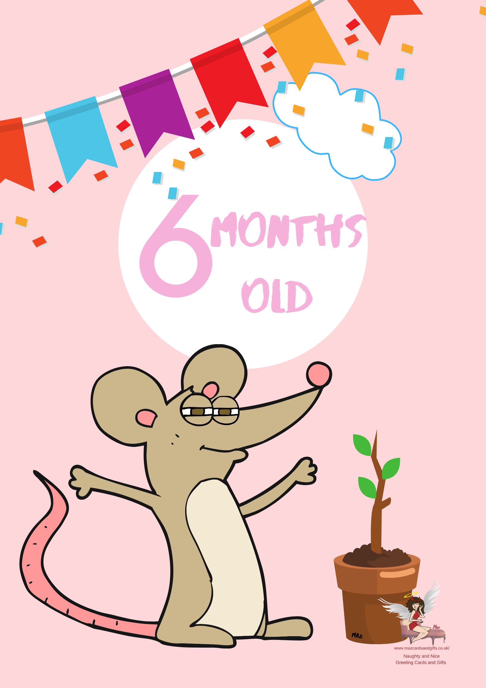 Children's Milestone Cards ~ Animals~ 6 Months old ~ Order No 275