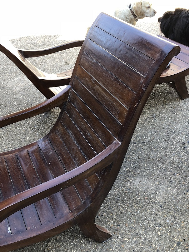 Fabulous Indian Teak Steamer Lounger/Chair - 2 Available