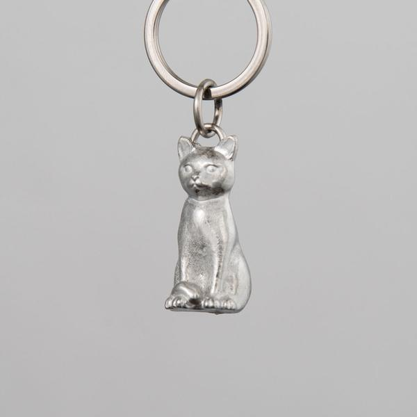Pewter Key Ring - Cat