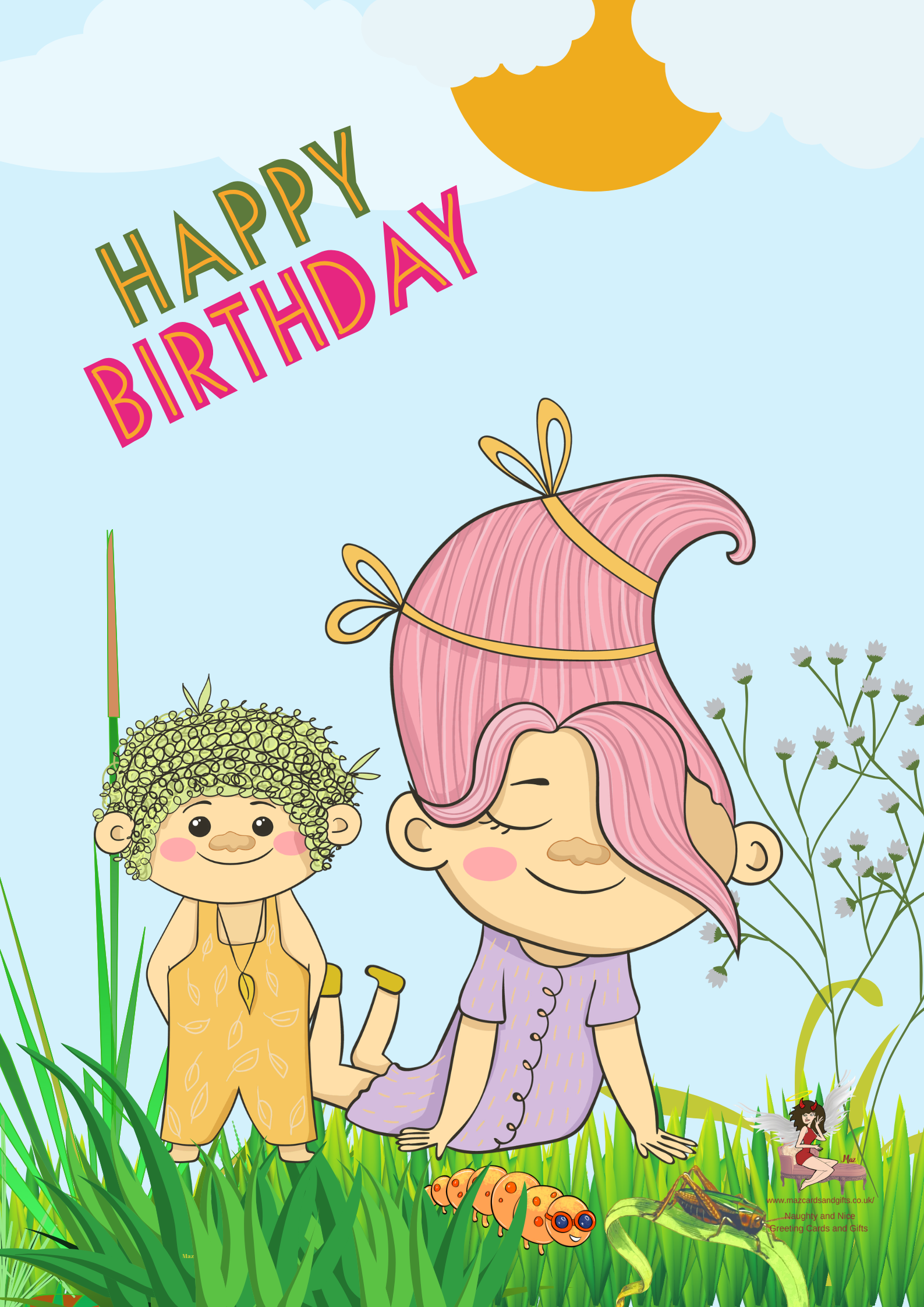 Troll Birthday Card ~ Personalised ~ Order No 295