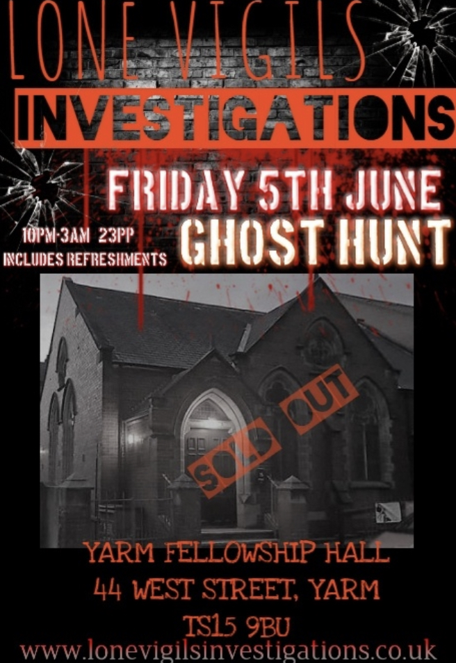 SOLD OUT Yarm Fellowship Hall 5th June 2020 10pm-3am