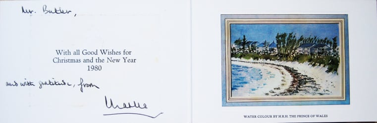 HRH The Prince of Wales - Christmas card
